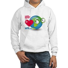 I Love Mother Earth. I love R Hooded Sweatshirt