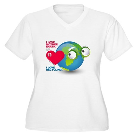 I Love Mother Earth. I love R Women's Plus Size V-