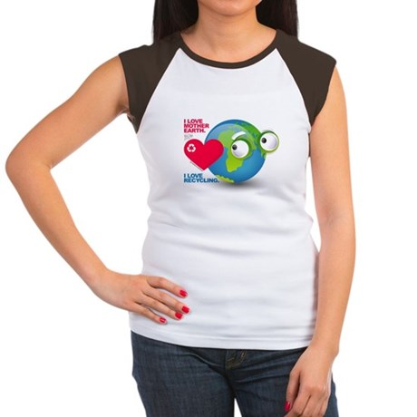 I Love Mother Earth. I love R Women's Cap Sleeve T