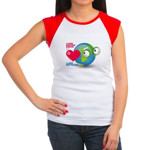 I Love Mother Earth. I love R Women's Cap Sleeve T