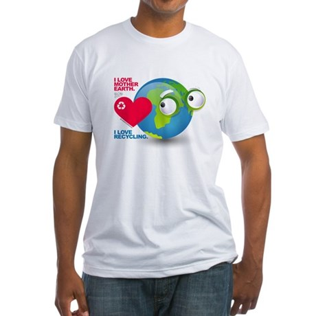 I Love Mother Earth. I love R Fitted T-Shirt