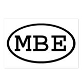 MBE Oval Postcards (Package of 8)