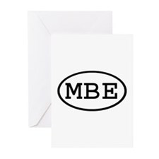 MBE Oval Greeting Cards (Pk of 20)
