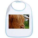 Unique Highland cow Bib