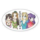 Oval Sticker-Girls