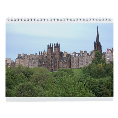 Edinburgh, Scotland wall calendar