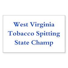 WVA Tobacco Spitting Champ Rectangle Decal