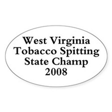 08 WVA Tob Spit Champ Oval Decal