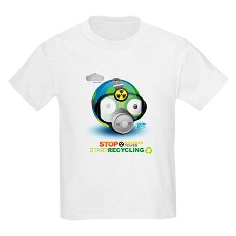 Stop Nuclear Energy. Recycle Kids Light T-Shirt