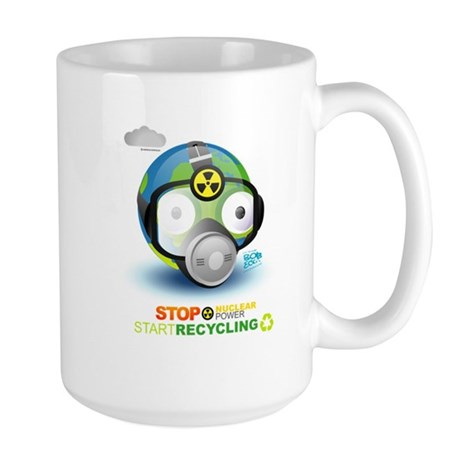 Stop Nuclear Energy. Recycle Large Mug