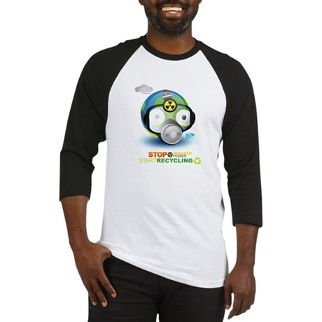 Stop Nuclear Energy. Recycle Baseball Jersey