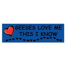 Geeses Love Me Bumper Car Sticker