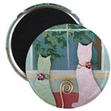 "Lonely Cats 2.25"" Magnet (100 pack)"