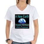A New Earth Women's V-Neck T-Shirt