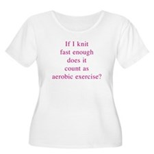 Aerobic Exercise 10x10 Plus Size T-Shirt