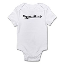 Vintage Laguna Beach (Black) Infant Bodysuit