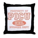 Property Of PICU Nurse Throw Pillow