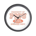 Property Of PICU Nurse Wall Clock