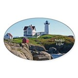 Nubble Oval Decal