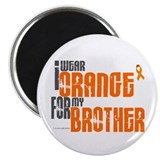 "I Wear Orange For My Brother 6 2.25"" Magnet (100 p"