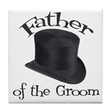 Top Hat Groom's Father Tile Coaster