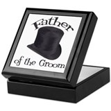 Top Hat Groom's Father Keepsake Box