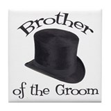 Top Hat Groom's Brother Tile Coaster