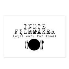 Filmmaker - will work for food! Postcards (Package