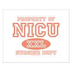 Property Of NICU Nurse Small Poster