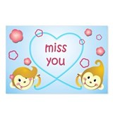 Missing you postcard