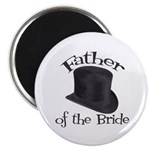 Top Hat Bride's Father Magnet