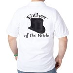 Top Hat Bride's Father Golf Shirt