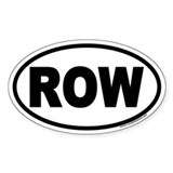 ROW Euro Oval Stickers