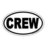 CREW Euro Oval Stickers