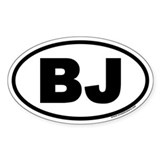 BJ Euro Oval Stickers