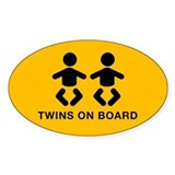 Twins Oval Bumper Stickers