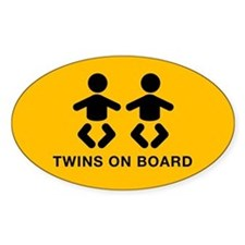 Twins Oval Decal