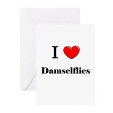 I Love Damselflies Greeting Cards (Pk of 10)