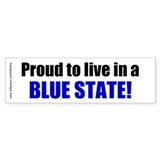 """Live Blue"" Bumper Bumper Sticker"