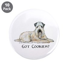 "Wheaten Terriers Cookie Dogs 3.5"" Button (10 pack)"