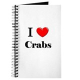 I Love Crabs Journal