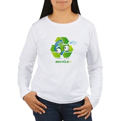 Recycle Women's Long Sleeve T-Shirt