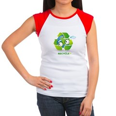Recycle Women's Cap Sleeve T-Shirt