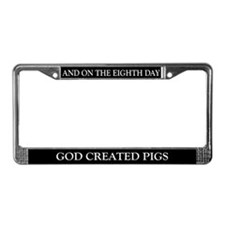 8TH DAY Pigs License Plate Frame