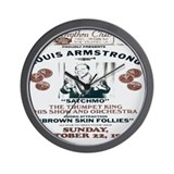 Louis Armstrong Poster Wall Clock