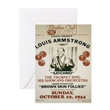 Louis Armstrong Poster Greeting Card