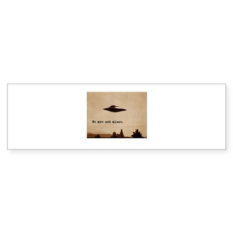 X-Files - We Are Not Alone Bumper Sticker