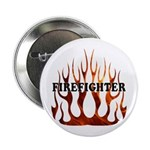 "Firefighter Tribal Flames 2.25"" Button"