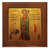 St Brigid Framed Tile
