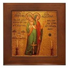 St Perpetua and St Felicitas Framed Tile